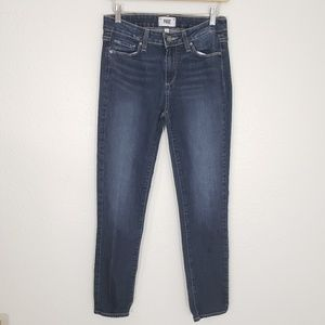 Paige Skyline Ankle Peg Jeans Dark Blue Size 30